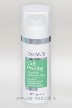 Гель-пилинг EMANSI c гликолевой кислотой и салицилатом из ивы pH 3,5, 50 мл. Купить Gel Peeling